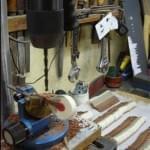 Imagen de la restauración de un piano vertical Bernareggi en el taller de Corrales Pianos. 14