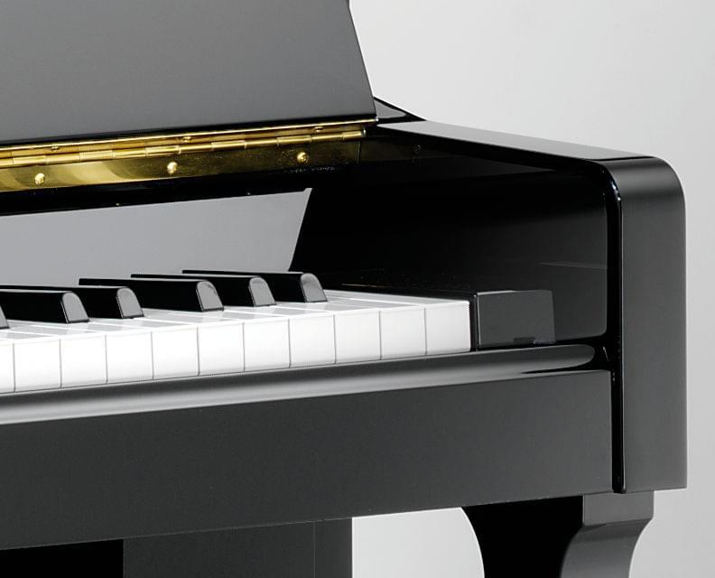 Detall teclat piano KEMBLE col·lecció Family model Classic T