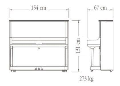Imagen del contorno piano vertical YAMAHA modelo SU7