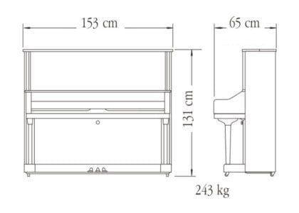 Imagen del contorno piano vertical YAMAHA modelo U3S