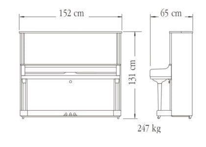 Imagen del contorno piano vertical YAMAHA modelo YUS3