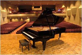 Imatge d'un piano BÖSENDORFER model imperial a l'escenari