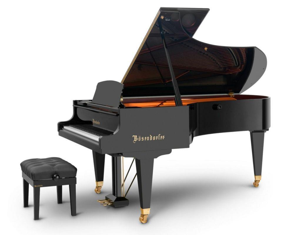 Imagen piano de cola BÖSENDORFER modelo estándar 225 color negro