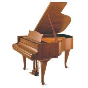 Imagen piano de cola GROTRIAN modelo especial 165 cámara Chippendale nogal satinado