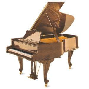 Imagen piano de cola GROTRIAN modelo especial 192 cabinet Rokoko nogal pulido