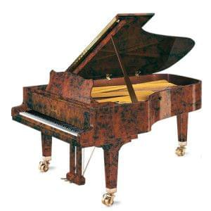 Imagen piano de cola GROTRIAN modelo especial 225 concierto madera raiz de nogal
