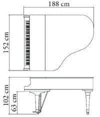 Imagen del contorno piano de cola KAWAI modelo GX-3