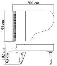 Imagen del contorno piano de cola KAWAI modelo GX-5