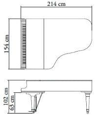 Imagen del contorno piano de cola KAWAI modelo GX-6