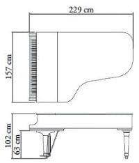 Imagen del contorno piano de cola KAWAI modelo GX-7