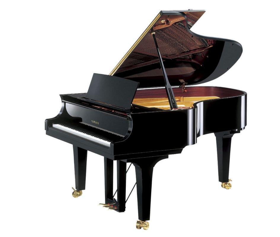 Imagen piano de cola YAMAHA premium CF Series. Modelo CF4 color negro pulido