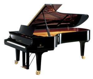 Imagen piano de cola YAMAHA premium CF Series. Modelo CFX color negro pulido
