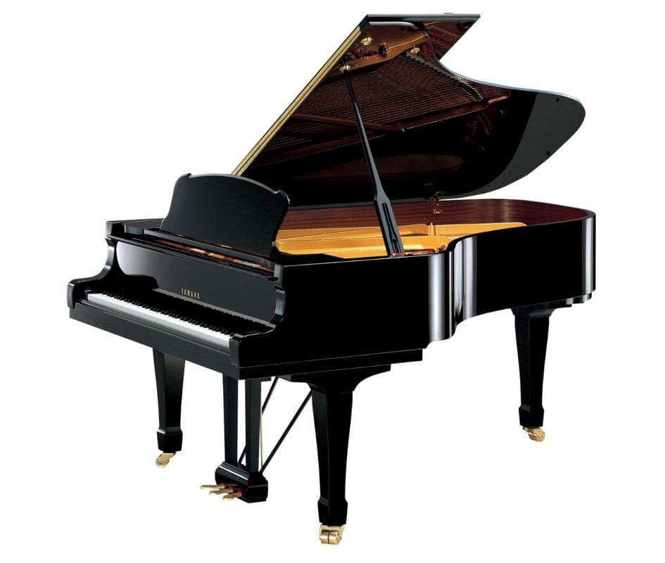Imagen piano de cola YAMAHA premium S Series. Modelo S4 color negro pulido