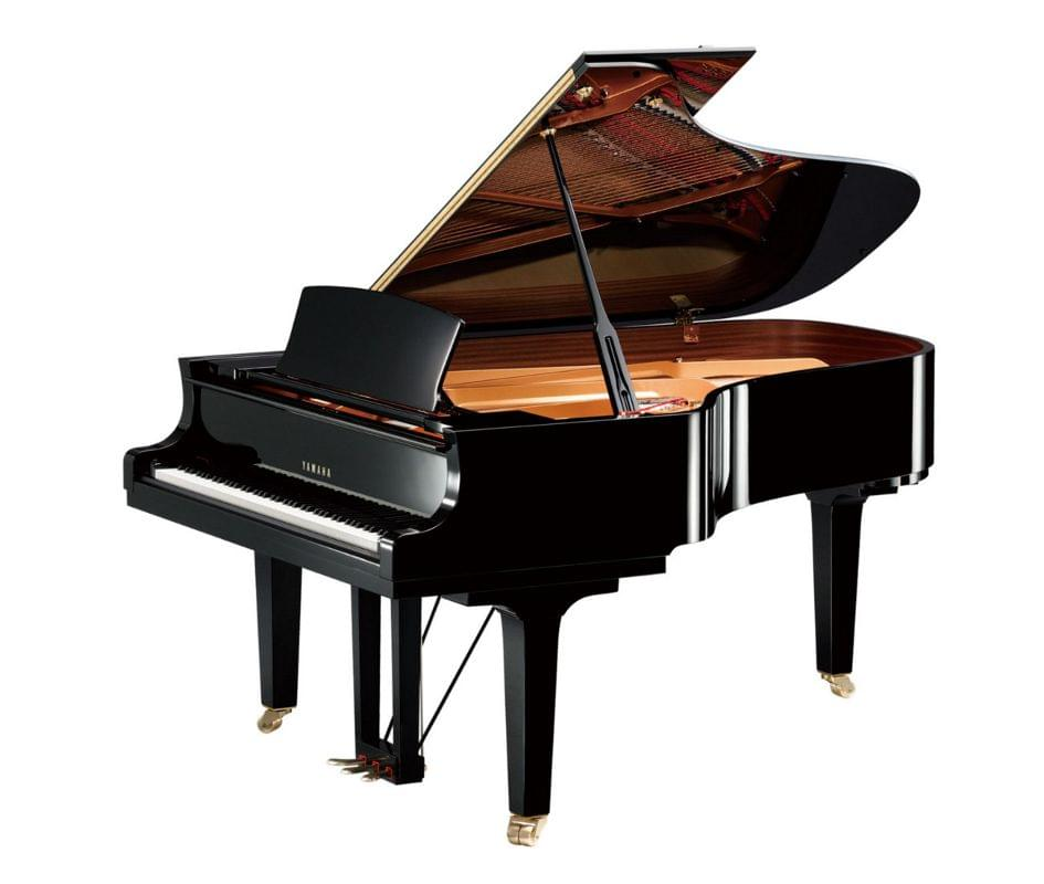 Imagen piano de cola YAMAHA CX Series. Modelo C6X color negro pulido