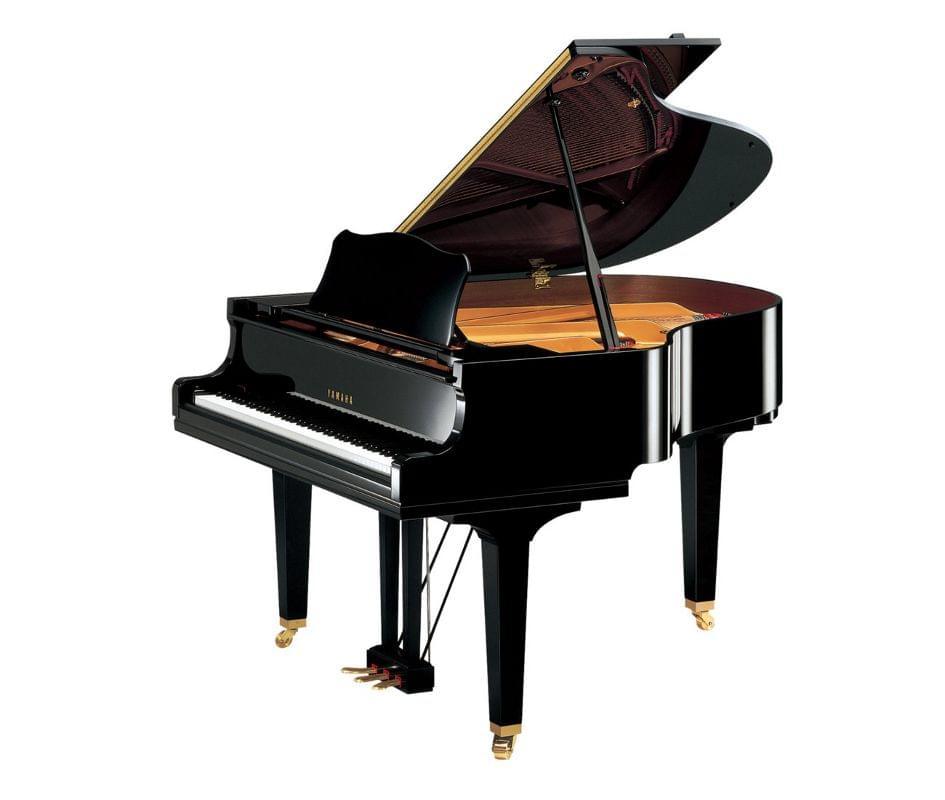 Imagen piano de cola YAMAHA serie estudio. Modelo GC1 color negro pulido