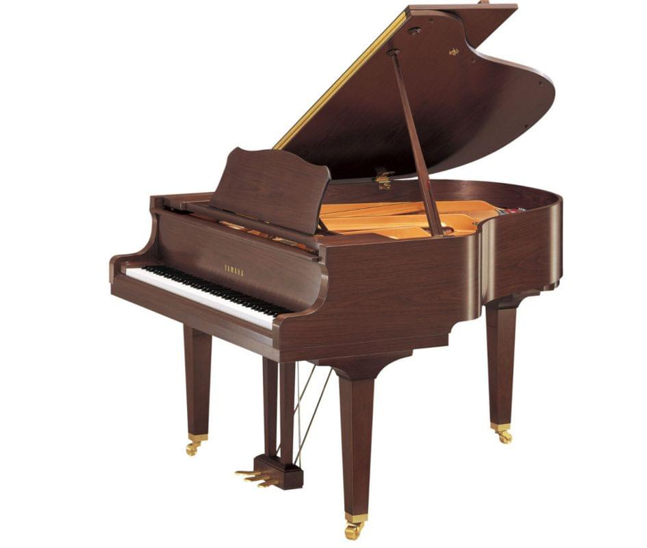 Imagen piano de cola YAMAHA serie estudio. Modelo GC1 color nogal pulido