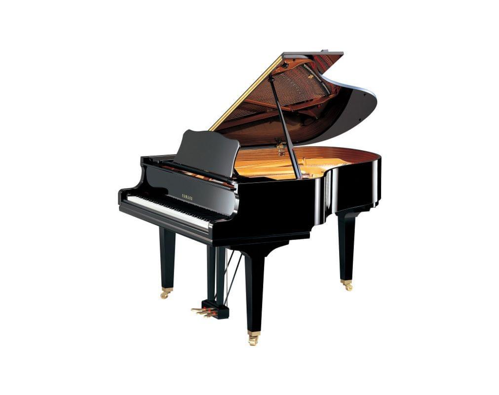 Imagen piano de cola YAMAHA serie estudio. Modelo GC2 color negro pulido