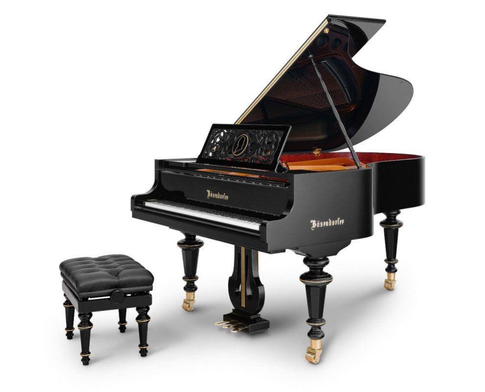 Imagen piano de cola BÖSENDORFER edición limitada aniversario Franz Liszt con banqueta