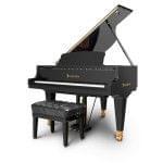Imagen piano de cola BÖSENDORFER modelo estándar 155 color negro con banqueta