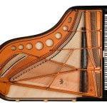 Imagen piano de cola BÖSENDORFER modelo 200 vista cenital abierto