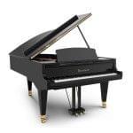 Imagen piano de cola BÖSENDORFER modelo estándar 214 color negro vista desde la izquierda