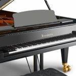 Imagen piano de cola BÖSENDORFER modelo 290 Imperial detalle teclado
