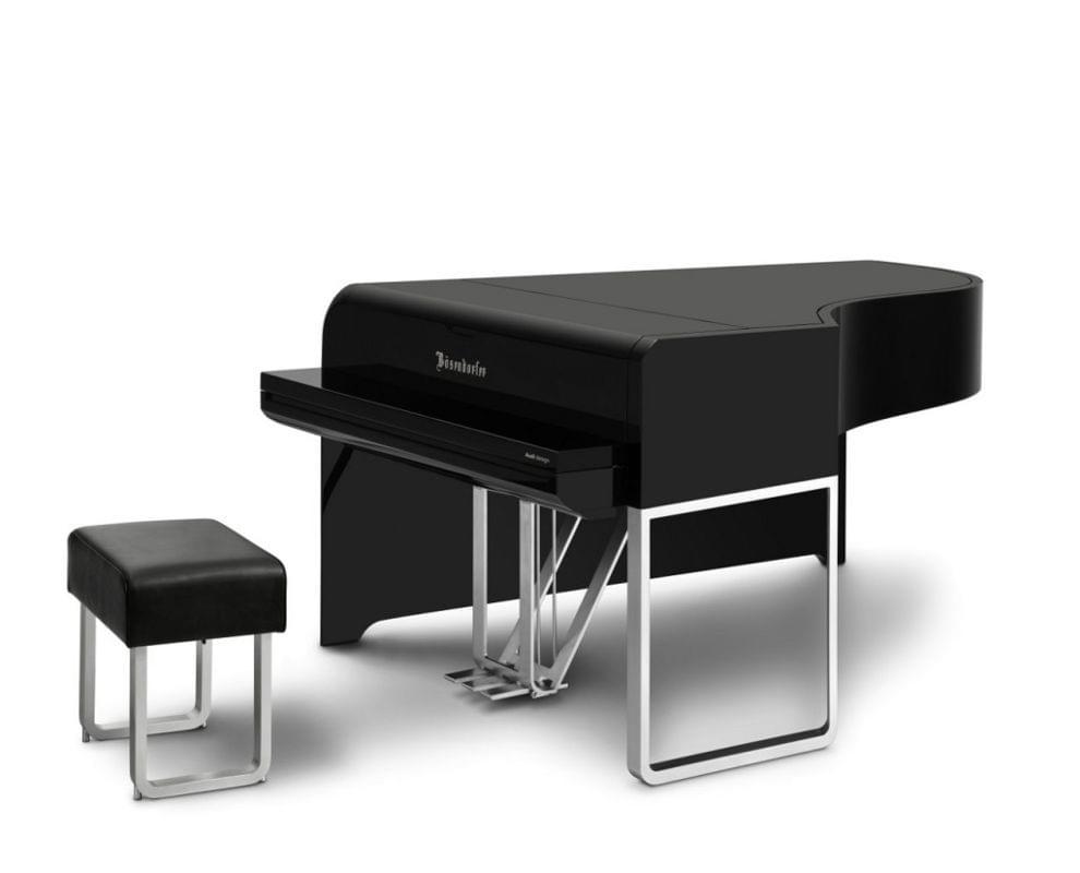 Imagen piano de cola BÖSENDORFER modelo de diseño AUDI cerrado con banqueta