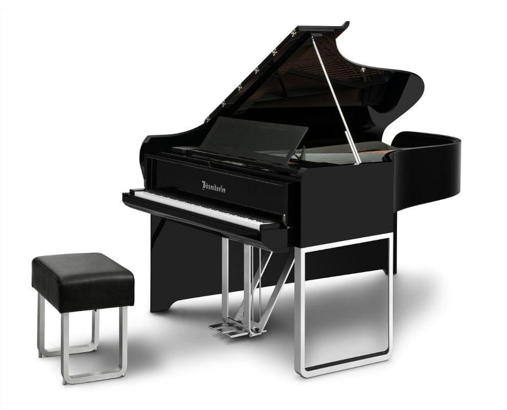 Imagen piano de cola BÖSENDORFER modelo diseño Audi con banqueta