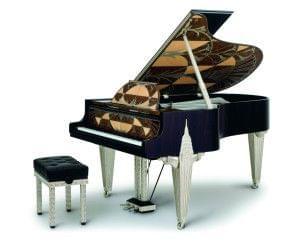Imagen piano de cola BÖSENDORFER modelo diseño Chrysler con banqueta