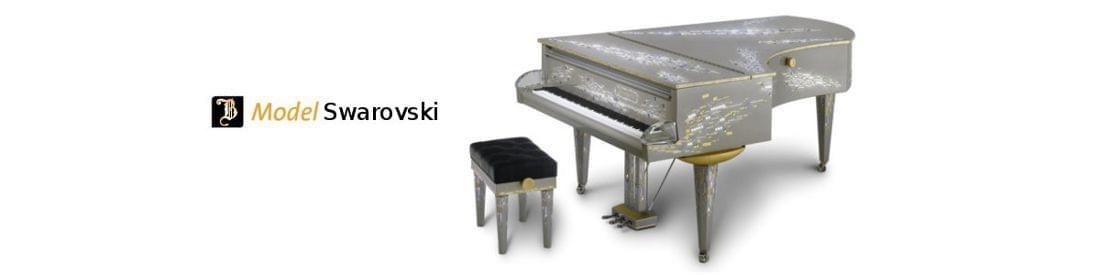 Imagen piano de cola BÖSENDORFER modelo de diseño Swarovski