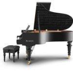 Imagen piano de cola BÖSENDORFER modelo especial Beethoven con banqueta vista lateral