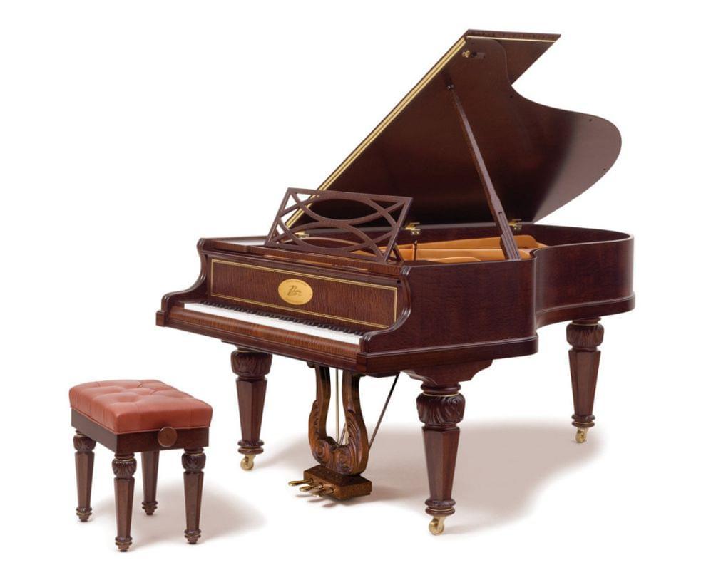 Imagen piano de cola BÖSENDORFER modelo especial Chopin con banqueta color pommele satinado