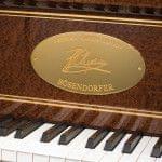 Imagen piano de cola BÖSENDORFER modelo especial Chopin detalle teclado