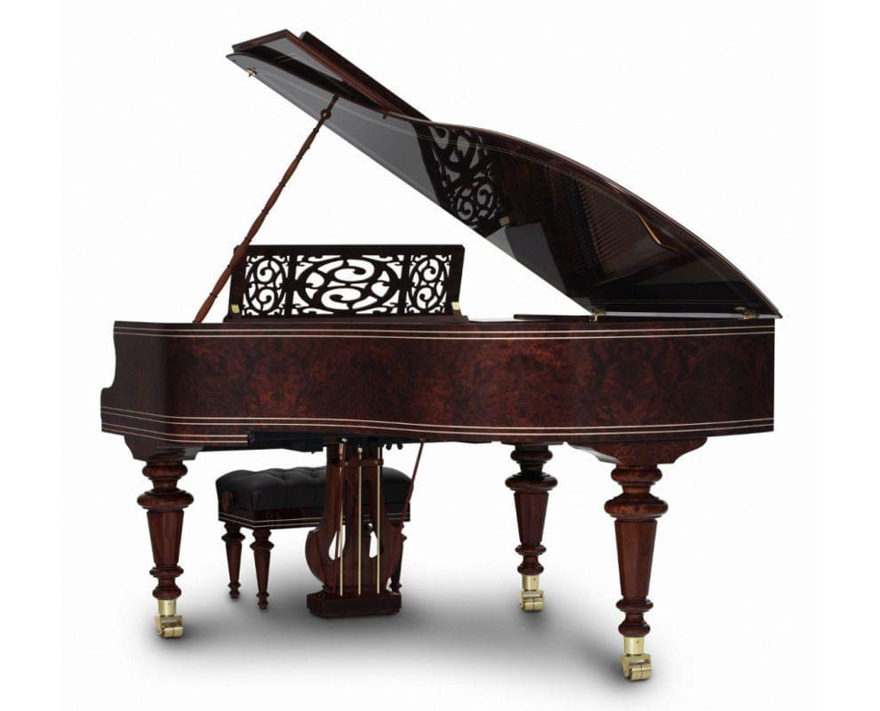 Imagen piano de cola BÖSENDORFER modelo especial Listz con banqueta vista posterior