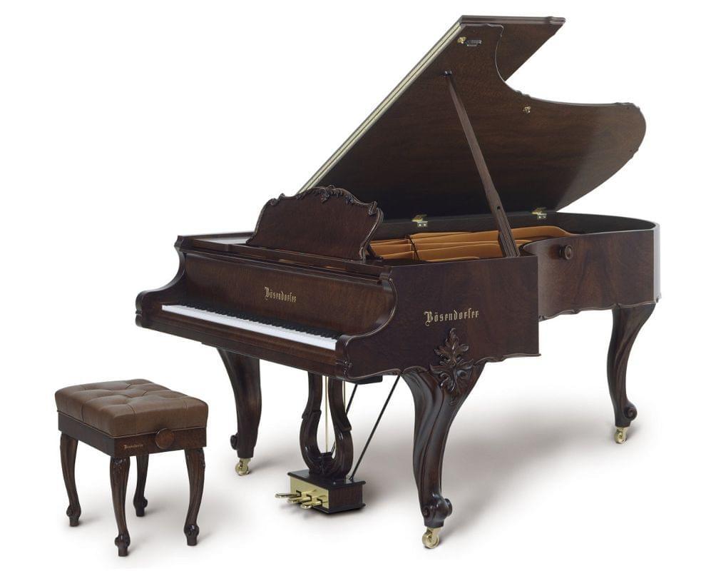 Imagen piano de cola BÖSENDORFER modelo especial Louis XVI con banqueta color pommele satinado
