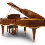 Imagen piano de cola BÖSENDORFER modelo especial Opus 50000 con banqueta vista posterior