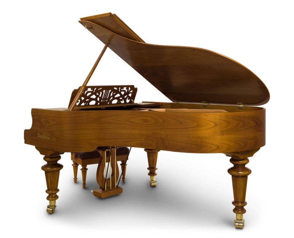 Imagen piano de cola BÖSENDORFER modelo especial Strauss cerezo satinado vista posterior