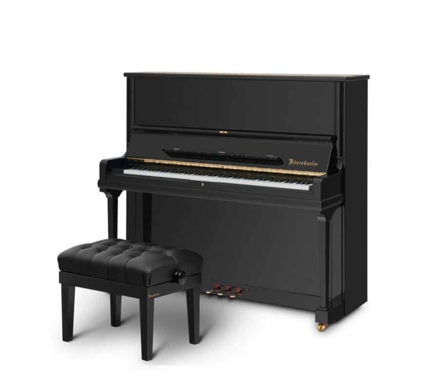 Imagen piano vertical BÖSENDORFER modelo 130 CL con banqueta