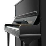Imagen piano vertical BÖSENDORFER modelo 130 CL vista lateral detalle teclado