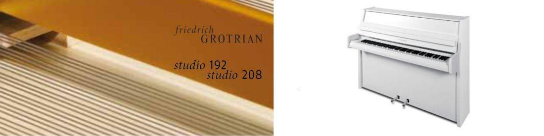 Imagen piano vertical GROTRIAN modelo Friedrich Grotrian Studio