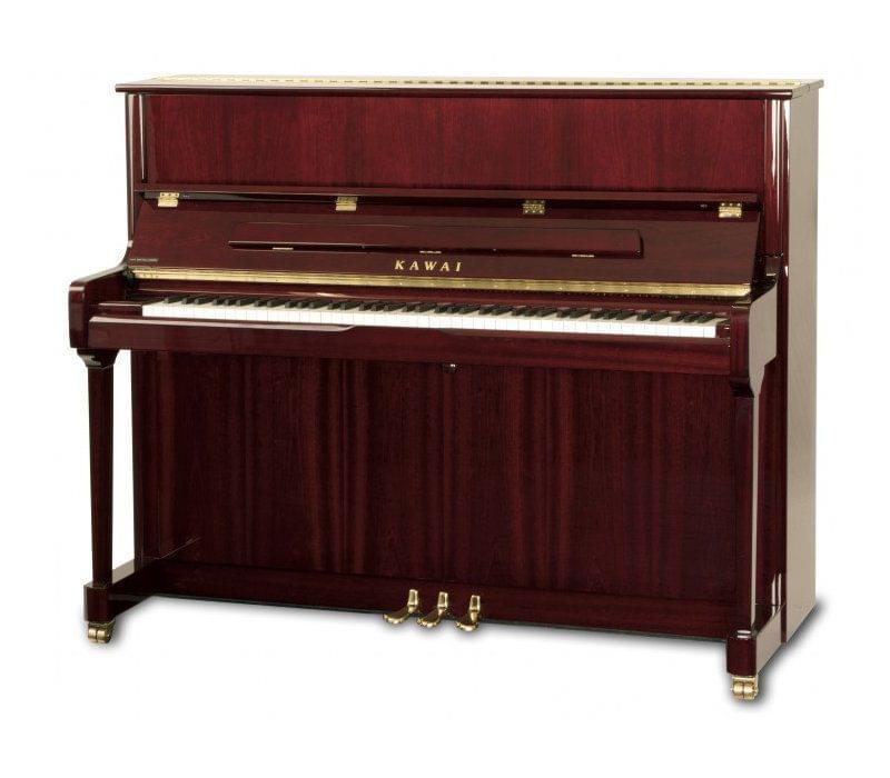 Imagen piano vertical KAWAI K Series modelo K-3 acabado caoba