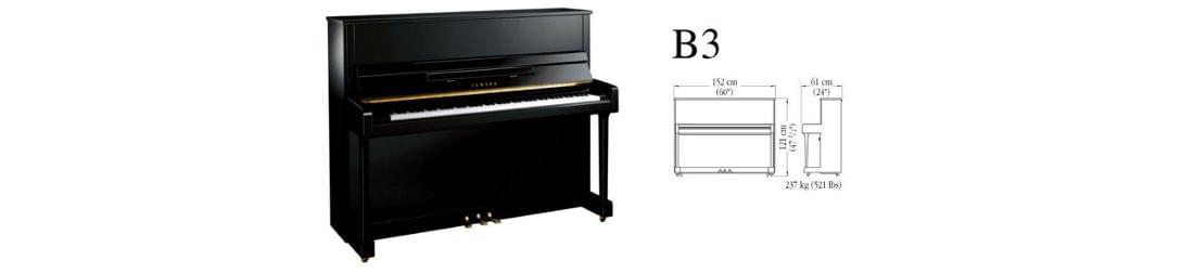 Piano vertical yamaha b series modelo b3 con las medidas for Yamaha b series piano