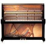 Imagen piano vertical YAMAHA SU Series. Modelo SU7 color negro pulido vista interior