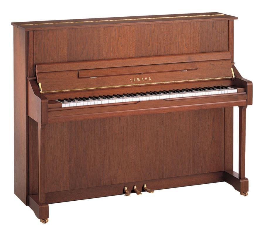 Imagen piano vertical YAMAHA U Series. Modelo U1. Color nogal oscuro poro abierto