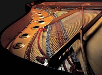 Imagen promocional pianos de cola premium YAMAHA S Series. Detalle del piano