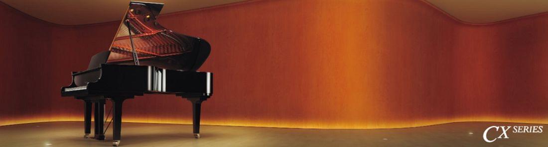 Imagen promocional nuevos pianos de cola YAMAHA CX Series grab entonación y regulación