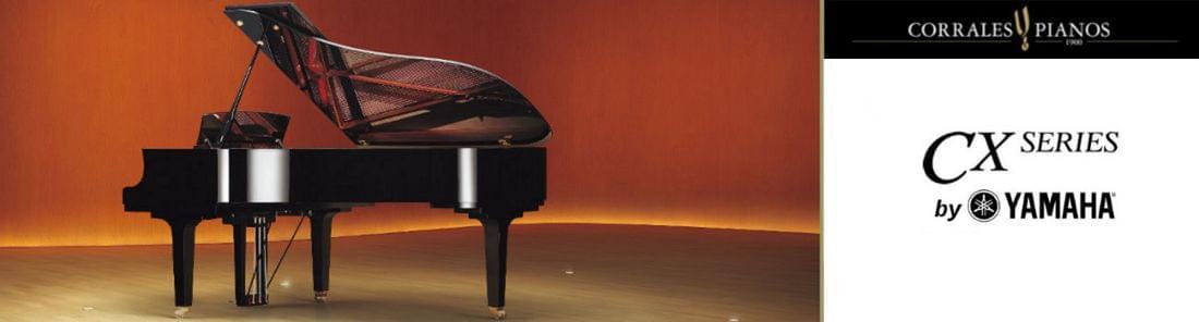 Imagen promocional nuevos pianos de cola YAMAHA CX Series diseños totalmente renovados
