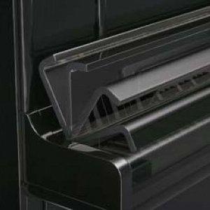 Característica pianos KAWAI caida suave de la tapa del teclado