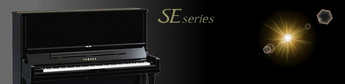 Imagen promocional pianos verticales artesanaes YAMAHA SE Series