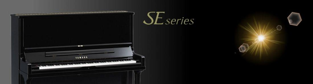 Imagen promocional pianos verticales YAMAHA SE Series